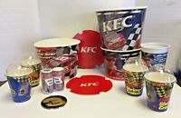 Dale Earnhardt Jr Nascar KFC Promo Lot Kentucky Fried Chicken Buckets Cups &More