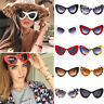 Fashion Cat Eye Big Oversized Thick Vintage Retro Style Frame Women Sunglasses