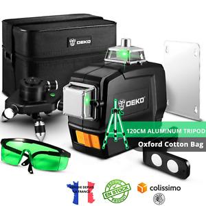 Niveau Laser Rotatif 360 Auto Nivelant 3D 12 Lignes Lumière Verte Trépied