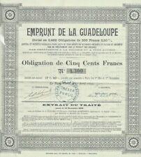 Z14  -  EMPRUNT DE LA GUADELOUPE  -  trés rare