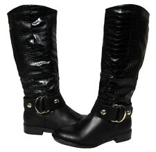 Women's Riding Boots Black Knee High Riding Shoes Winter Snow Ladies size 8