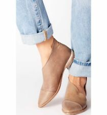 Free People Royale Pointy Toe Brown Leather Flats Size 39 EU / 9 US