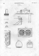 Stampa antica architettura COSTRUZIONE di un TUNNEL 1848 Old print