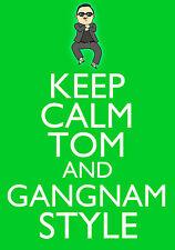 Personalised Psy Gangnam Style Keep Calm Birthday Greeting Card A5