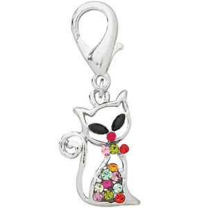 Aria GlamaCat Cat Collar Charm CLEARANCE!PINK YELLOW PURPLE RED Limited Supply!