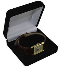 1 x Luxury Black Velvet Watch/Bracelet Box with c-clip insert - Watch Gift Box