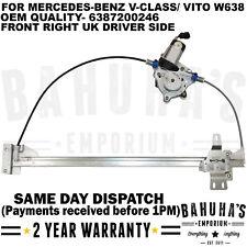 MERCEDES BENZ V-CLASS / VITO W638 FRONT RIGHT SIDE WINDOW REGULATOR 6387200246