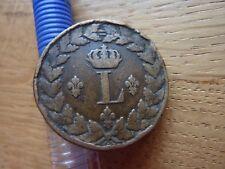 1815BB France Louis XVIII Un Decime Coin (ref24a)