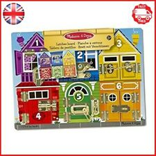 Melissa Doug 13785 Latches Wooden Activity Board Smooth Sanded Solid Wood Board