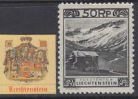 LIECHTENSTEIN - Yv 102c cv 180$ MH* perf 11½x10½