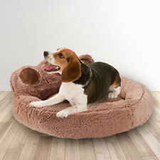 New listing Pet Dog Cat Washable Fleece Cushion Paw House Sleeping Puppy Bed Mat Kennel Nest