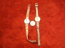 "NEAT PAIR OF VTG KIDS WRISTWATCHES WATCHES,  DISNEY'S ""MICKEY & MINNIE MOUSE"""