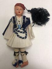 New ListingVintage Paper Mache Boy Doll Kilt Folk Doll