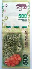 Billet de banque  USED  TB XF  Argentine 500 Pesos  JAGUAR , plis , fold AR36