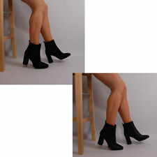 Unbranded Mid Heel (1.5-3 in.) Pull On Boots for Women