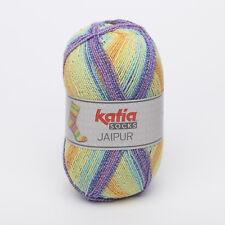 100g JAIPUR SOCKS KATIA Sockenwolle 4-fach FARBVERLAUF 52 Wolle Socken ähn REGIA