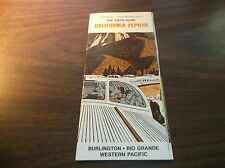 MARCH 1967 CB&Q-D&RGW-WP CALIFORNIA ZEPHYR ROUTE GUIDE