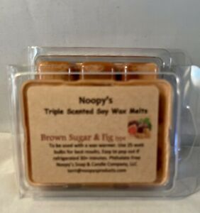 2 BROWN SUGAR & FIG* type Triple Scented NOOPY'S Soy Wax Tarts Melts Kosher