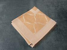 Antique 4 Damask Napkins Ecru & White Geometrics Very Good & Lovely!