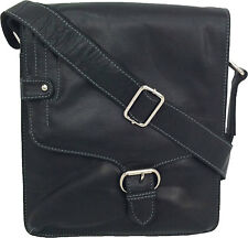 UNICORN Real Leather iPad, Kindle, Tablets & Accessories Messenger Bag Black #3M