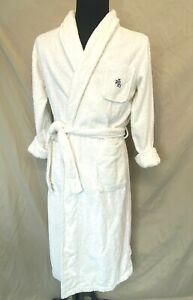 Ralph Lauren Robe Mens size S White Terry Cloth Vintage LRL logo made Turkey PJ