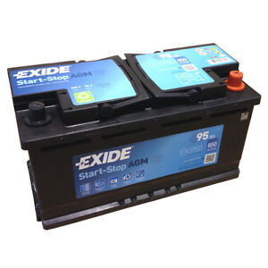 Exide AGM Start-Stop--Battery EK950 En (A): 850 12V 95AH Newest Model 2014/15