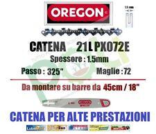 CATENA PER MOTOSEGA OREGON 21LPX072E PASSO .325  SPESSORE 1,5mm  72 MAGLIE