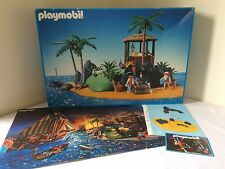 Vintage Playmobil Pirates Island #3799 Box Instructions Poster 99% Complete