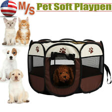 New listing Pet Portable Play Pen Exercise Kennel Tent Dog Soft Playpen Cat Folding Cage Usa
