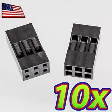 [10x] Dupont  Wire Jumper Pin Header Connector Housing - 2x3 - Male / Female