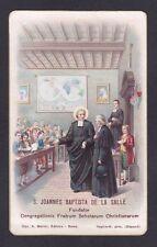 SAN GIOVANNI BATTISTA DE LA SALLE 01 SANTINO HOLY CARD IMMAGINETTA - Ed. MARINI
