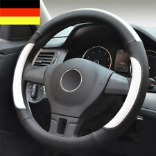 DE Ø36.5-38cm Auto Lenkradbezug Schwarz Lenkrad Hülle schutz schoner Kunstleder
