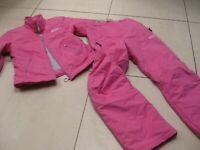 Ladies girls PLUSMINUS pink SKI SUIT size UK 6 8 13 14 years jacket salopettes
