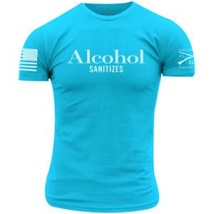 Grunt Style Alcohol Sanitizes T-Shirt - Tahiti Blue