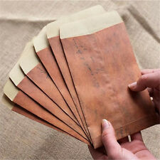 10X Vintage Paper Envelopes Mini Retro Brown Kraft Paper Postcards Organizer..