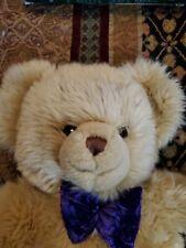 Harrods London SoftTeddy Bear Golden Brown 16in Velvet Pads Logo Paw Clean.