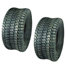 (2) Turf Saver Tires 15x6x6 15x6-6 15-6-6 Lawn Mower Tire Garden Tractor