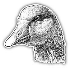 Goose Head Sketch Car Bumper Sticker Decal 5'' x 5''
