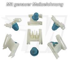 10x Zierleistenklammer mit Tülle Schweller Clips für VW Passat 97-05 | 3B0853576