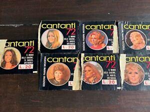 LOTTO DI 14 BUSTINE VUOTE CANTANTI 1972 EDIZIONI PANINI
