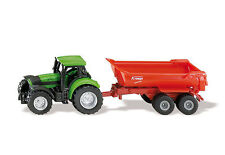 SIKU 1632 BLISTER PACK Agrotron 265 Tractor With Half Pipe Tipper Diecast Model