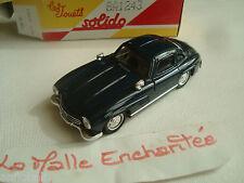 miniature Mercedes 300 sl  bleue  1/43 1954 solido  nmr 4502 10/84 avec sa boite