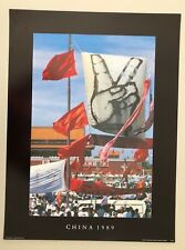 TIANANMEN SQUARE PROTESTS,CHINA,1989 BY VINCENT MENTZEL AUTHENTIC 1989 ART PRINT