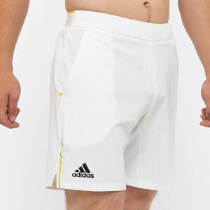 adidas Men's Tennis London Shorts in Ivory Size LARGE
