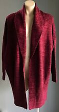 "NWT Burgundy Marl COTTON ON ""Cora 3"" Chunky Knit Shawl Cardigan Size XS/8"