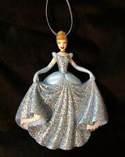 Disney Princess Cinderella Christmas Ornament glittering Blue Gown Classic