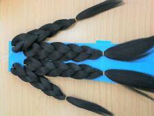 UK:Time Saving. Pre Stretched Braid X4. Super Braiding Bulk Hot Water Seal Hair