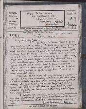 Harry Smith 974993 - Jean Kelly, 89 Hartland Road, Reading 1943 Airgraph BG466