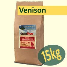 15kg *Grain Free* Working Dog Food VENISON with SALMON, SWEET POTATO & MULBERRY