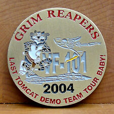 VF-101 Grim Reapers Challenge Coin Last Tomcat Demo Team Tour Baby!
